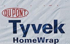 Tarp Tab - 9 X 12 Foot Tyvek Ground Sheet or Tarp with 8 Adhesive Grommet Tabs From Campcovers