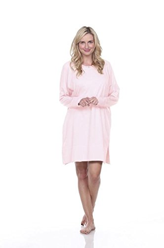 Urban MuuMuu Knee Length Lounge Tunic With Inset Pockets & Headband - Pink