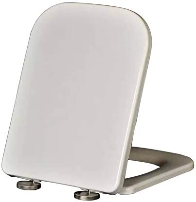 ユニバーサルトイレシート、カバー付きシートホワイトソフトクローズクイックリリースで簡単に清掃できます。 すべてのメーカーのトイレに適合