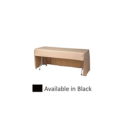 Snap Drape FPFSWYN830CC-BLACK 8' x 30'' Conference Cloth Table Cover by Snap Drape