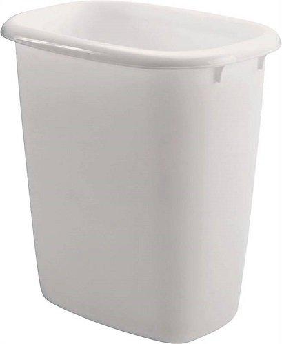 (Rubbermaid FG295800WHT 14.4 Quart Vanity Wastebaskets)