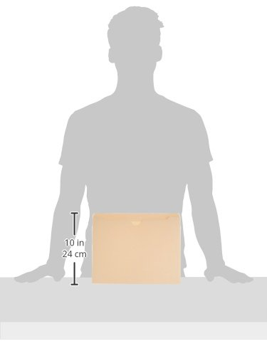 AmazonBasics File Jacket, Reinforced Straight-Cut Tab, Flat-No Expansion, Letter Size, Manila, 100-Pack Photo #3