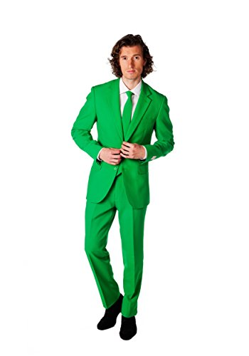 Opposuits Men's Evergreen Party Costume Suit, Green, 44 by Opposuits