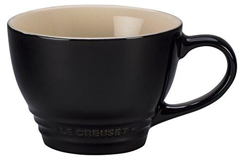 Le Creuset Stoneware Bistro Mug, 14 oz, Black