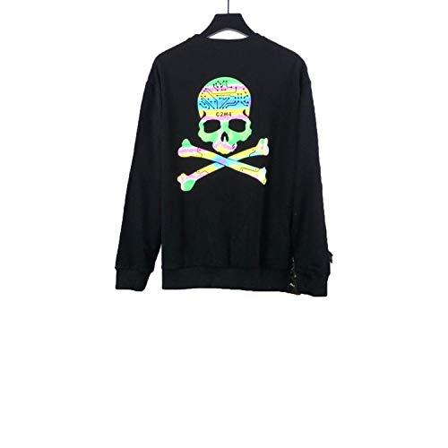 fgtUGFCH2694 Japan Mastermind Hoodies Men Women 3M Reflective Streetwear Sweatshirt Black (Mastermind Japan Clothing)