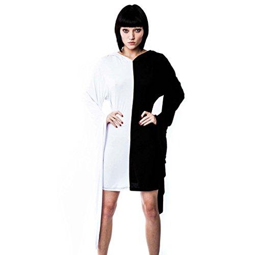 Killstar - Robe - Manches Longues - Femme Noir Noir/blanc XX-Large