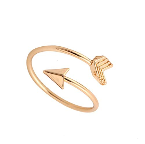 YCQHIKER Fashion Arrow Ring Open Adjustable Ring for Women Girls Minimalist Jewelry (Gold) by YCQHIKER (Image #2)