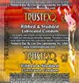 Trustex Ribbed & Studded Premium Lubricated Latex Condoms with Silver Pocket/Travel Case
