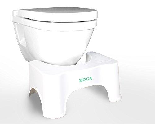 HOCA medizinischer Toilettenhocker - Das einfache, effektive Mittel gegen Hämorrhoiden, Verstopfung, Reizdarm - auch zur Darmsanierung, Darmreinigung, Entgiftung geeignet - für eine gesunde Darmflora