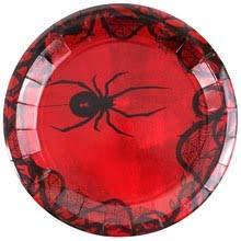 Martha Stewart Paper Plates, Black Widow Spider 10