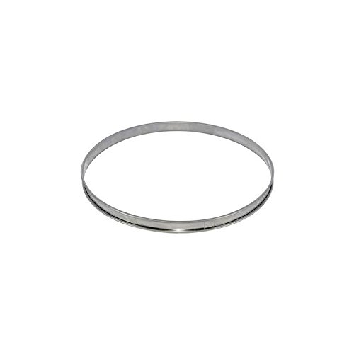De Buyer 3091.08N - Circular Tart Frame with Rolled Edge, Stainless Steel, Height 2cm Diameter 2cm.