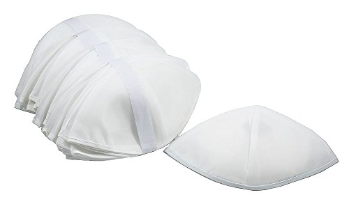 Zion Judaica Bulk Synagogue Shul Rayon Kippot - Gross (144) (White) by Zion Judaica Ltd