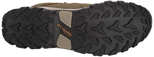 Columbia Men's Newton Ridge Plus II Waterproof Ankle Boot Silver sage, Dark Banana 7 Regular US by Columbia (Image #3)
