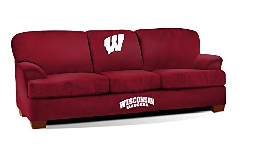 Imperial Officially Licensed NCAA Furniture: First Team Microfiber Sofa/Couch, Wisconsin Badgers