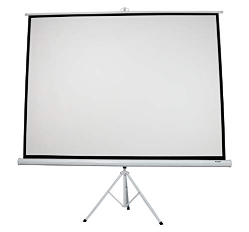 FOSSA 100 Inch Outdoor/Indoor Adjustable Portable Projector Screen with Stand | 4:3 Resolution