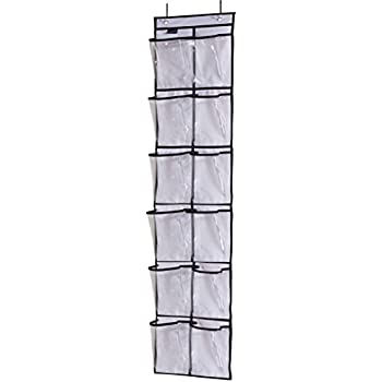 Misslo Over The Narrow Door Organizer With 12 Crystal Pockets (White)