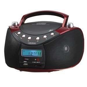 Lauson CP 431 - Radio, color negro y rojo