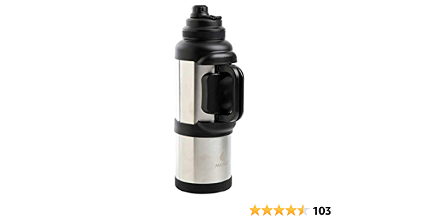 Amazon Com Titan 1 Gal Onyx Stainless Steel Vacuum Insulated Jug Black Kitchen Dining