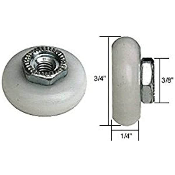 Amazon Com 3 4 Oval Edge Nylon B B Sliding Shower Door Roller Threaded Hex Hub Package Home Improvement