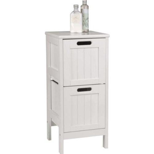 [HSB Bundle+] Living Shaker Style 2 Drawer Bathroom Storage Unit   White  With Microfibre HSB Cleaning Glove: Amazon.co.uk: Kitchen U0026 Home