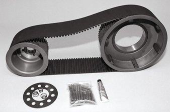 8mm Belt Drive Fits Big Twin 4 speed 1955/Early 1984 2'' Kickstart Models 47T-76T Pulley Combo-by-Belt Drives Ltd. by Belt Drives
