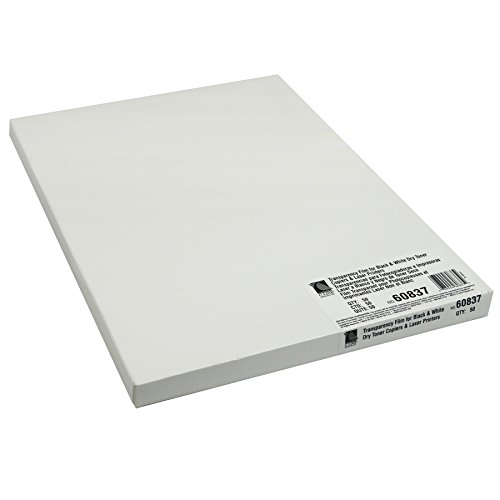 Film for Plain Paper/Laser Printers, Clear, 8.5 x 11 Inches, 50 Sheets per Box (60837) ()