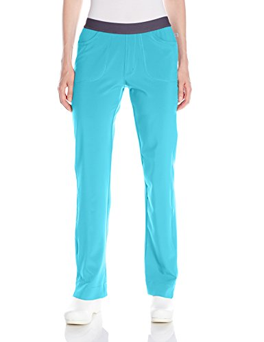 Cherokee Women's Infinity Low Rise Slim Pull-on Pant, Turquoise XXX-Large