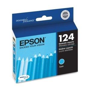 Epson DURABrite 124 Moderate Capacity Ink Cartridge - Cyan - Inkjet - 220 Page - 1 Each - T124220 ()