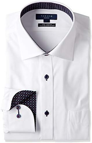 ビジネス ワイシャツ エリウラハリカエ ストレッチ 形態安定 スリムフィット 長袖 ニットシャツ メンズ