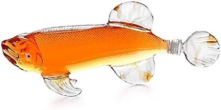 TQJ Botella de Whisky con Vaso Botella De Vino De Artesanía Creativa - Decantador De Whisky De Rifle con Gafas De Whisky Conjunto - para Licor, Whisky, Bourbon Vodka Botella de Whisky Regalo