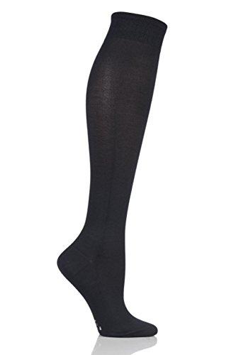 Ladies 1 Pair Falke Strong Leg Energizer Compression Socks Black 41-42 W1