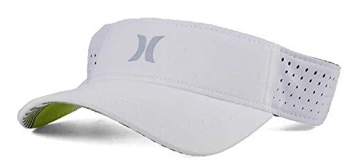 White Visors Bulk (Hurley Men's White & Silver Polyester Visor Strapback Cap)