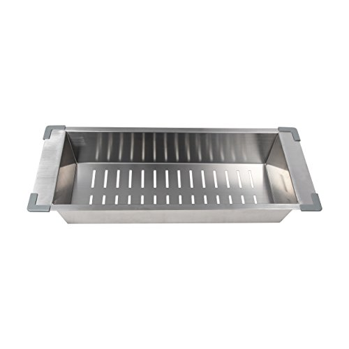 "BOANN BNKC20 Kitchen Sink Colander Fit with 17"" Opening, ..."