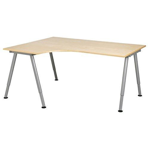 6 IKEA Galant Corner Desks (Birch, Black, Beech, White, Gray) with Door-to-Door Freight Shipping (Galant Table)