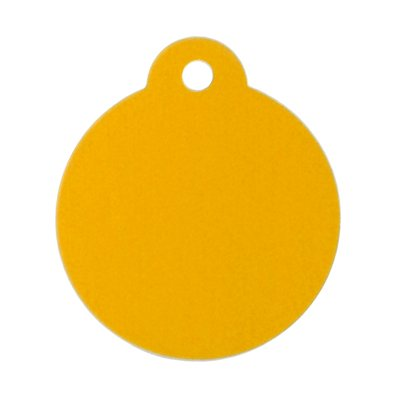 100 Premium Round Pet Tags Blank - Anodized Aluminum (Large, Gold) by GoScribe
