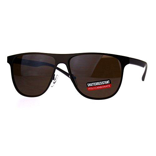 Mens Metal Frame Horned Rim Hipster Sport Sunglasses Copper - Sunglasses Cia