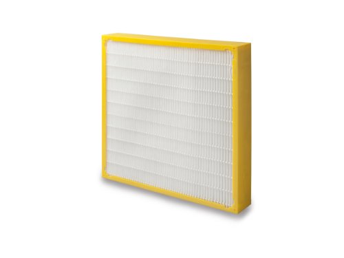 "Filtration Group 21638 Geo-Pleat Mini-Pleat Air Filter, Synthetic Media, Yellow/White, 13 MERV, 20"" Height x 20"" Width x 4"" Depth (Case of 3)"