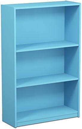 FURINNO 14151R1LBL Simple Adjustable Bookcase
