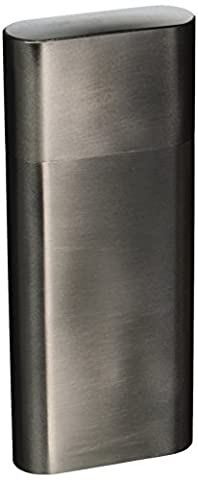 Visol Products Toledo Stainless Steel 2-Finger Cigar Case with Flask - Personalized Cigar Case