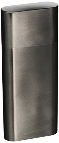 Visol Products Toledo Stainless Steel 2-Finger Cigar Case with (Cigar Flask)