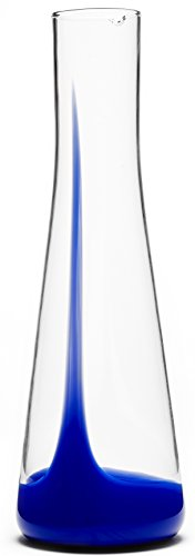 Bib&Sola Hand Blown Glass Water Decanter (1.2L), blue