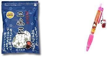 [2点セット] 飛騨 打保屋 駄菓子 三嶋豆(150g)・飛騨さるぼぼだっこキティ シャープペン / 子宝・安産祈願 //
