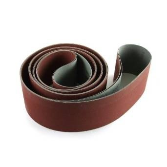 4 X 132 Inch 150 Grit Flexible Aluminum Oxide Multipurpose Sanding Belts, 3 Pack by Red Label Abrasives (Image #3)