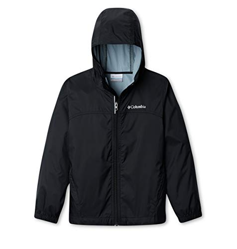 Columbia Big Boys' Glennaker Rain Jacket, Black, Small