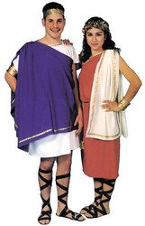 Toga Costume Ideas For Women (WMU 558448 Polyester Toga Woman Dress - White/Purple)