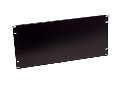 5u Black Rackmount - Rackmount 5U Blank Filler Panel with added flanges on top and bottom side for standard EIA310 19
