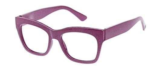 Peepers Women's Shine On - Blue Light Filtering Reading Glasses 2546250 Square Reading Glasses, Pink, 2.5, 53 ()