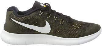 Nike men Free Run Distance Low Top Lace Up Running Sneaker, Black, Size 12.0 by Nike
