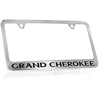 Jeep Grand Cherokee License Plate Frame Number Tag Engraved Chrome Plated Brass