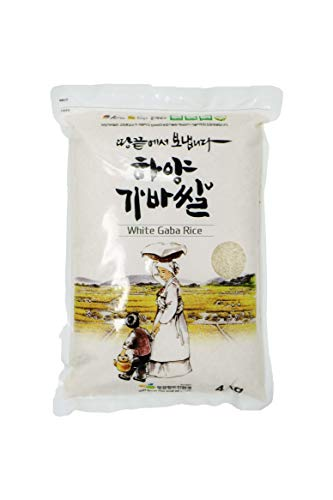 Premium Korean White Gaba Rice - korean style (8.8 LBS) - 하양 가바 쌀 - - Rice Sprouted Brown Gaba
